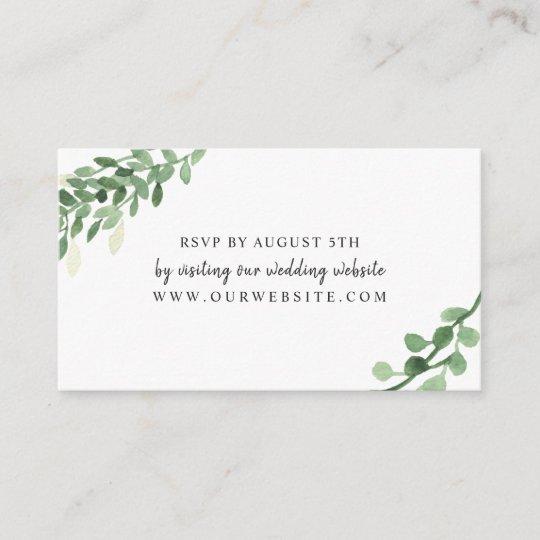 Wedding Rsvp Website.Lush Greenery Wedding Rsvp Online Card