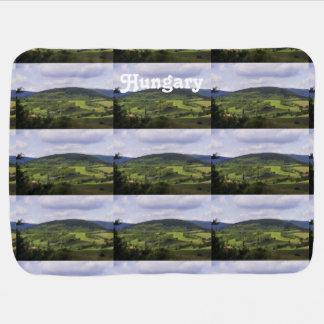 Lush Hungary Landscape Swaddle Blanket
