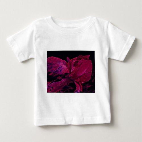 Lush Iris Deep Red Glow Baby T-Shirt