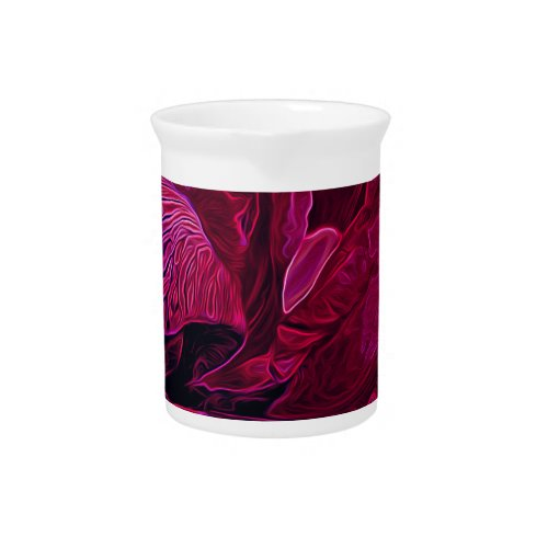 Lush Iris Deep Red Glow Beverage Pitcher