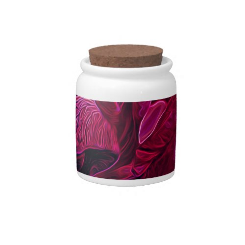 Lush Iris Deep Red Glow Candy Jar