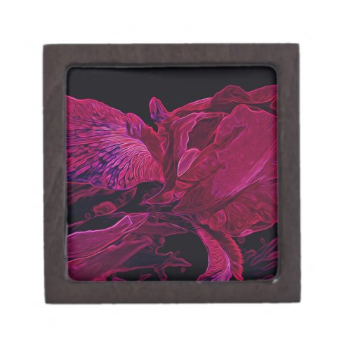 Lush Iris Deep Red Glow Jewelry Box