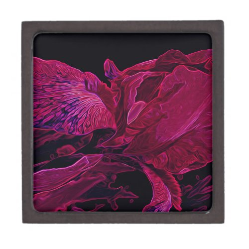 Lush Iris Deep Red Glow Keepsake Box