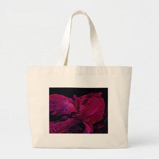 Lush Iris Deep Red Glow Large Tote Bag