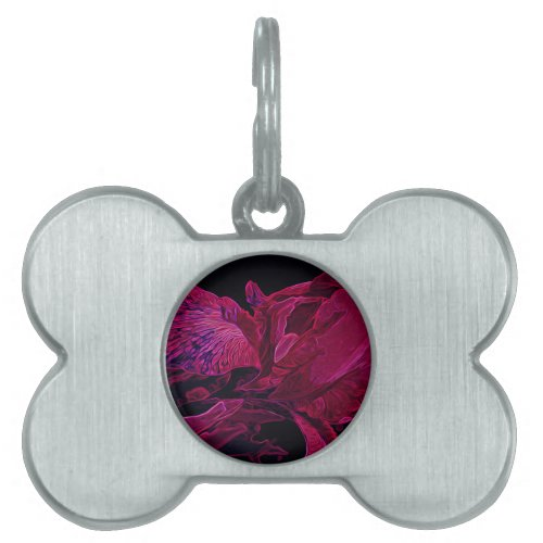 Lush Iris Deep Red Glow Pet Tag