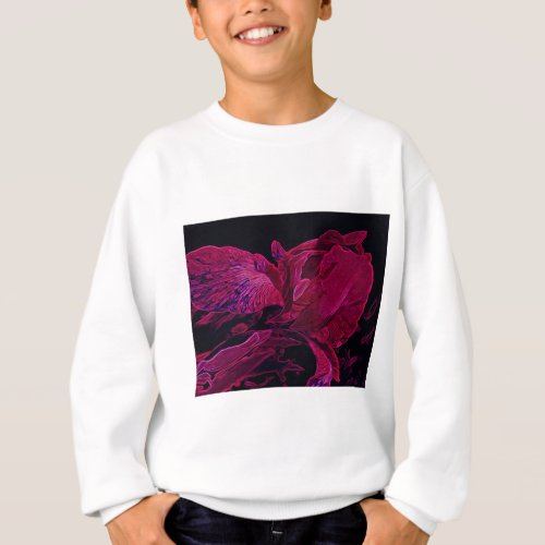 Lush Iris Deep Red Glow Sweatshirt