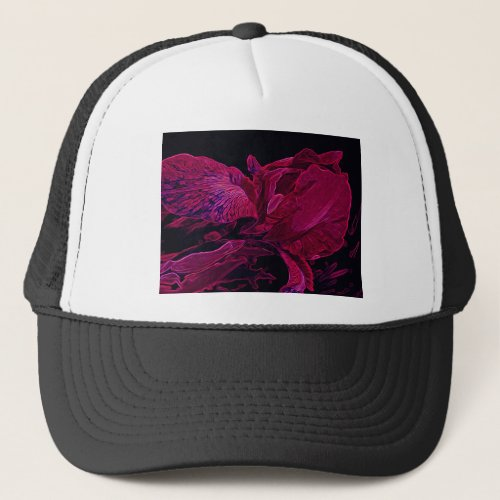 Lush Iris Deep Red Glow Trucker Hat