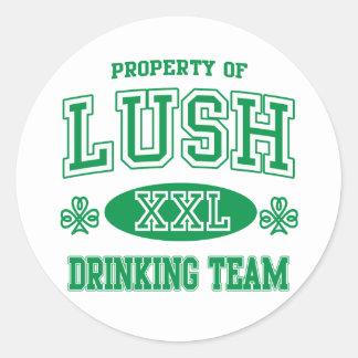 Lush Irish Drinking Team Classic Round Sticker
