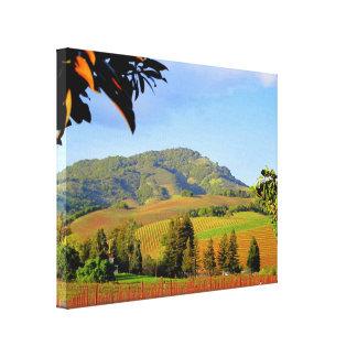 Lush Landscape of Vineyards Wrapped Canvas