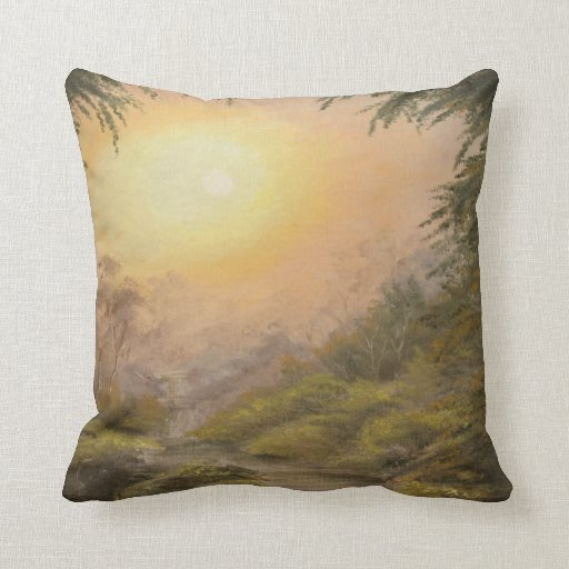 Lush Landscape Throw Pillow
