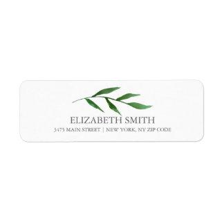 Lush Leaves Elegant Watercolor White Label