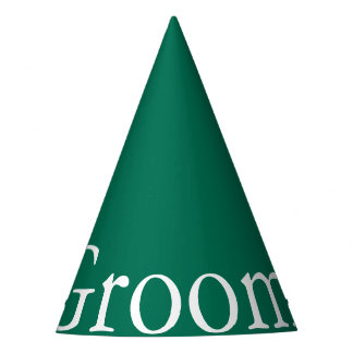 Lush Meadow Green with White Wedding Detail Party Hat