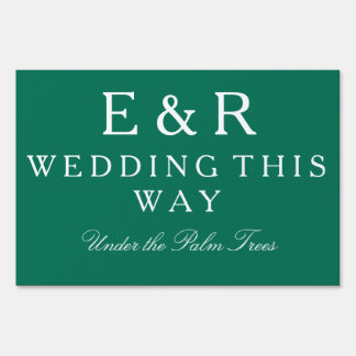 Lush Meadow Green with White Wedding Detail Yard Sign