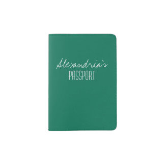 Lush Meadow Rich Green Solid Color Custom Passport Holder