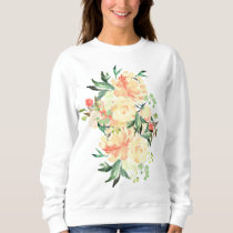 Lush Peach and Cream Rose Bouquet Sweatshirt