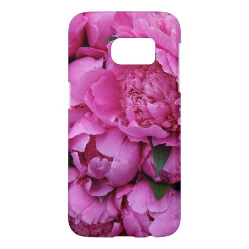 Lush Pink Peony Flowers Phone Case