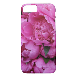 Lush Pink Peony Flowers iPhone 7 Case