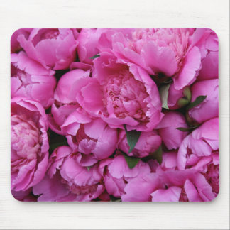 Lush Pink Peony Flowers Mouse Pad