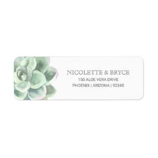 Lush Succulent Return Address Label