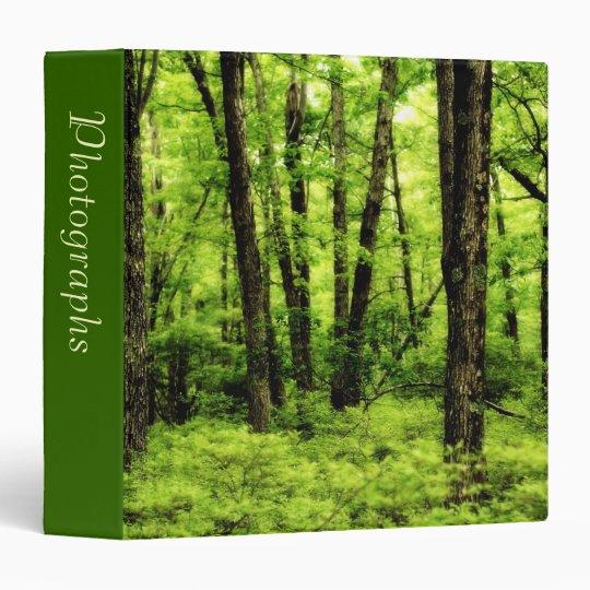 "Lush Summer Woods 1.5"" Photo Album 3 Ring Binder"