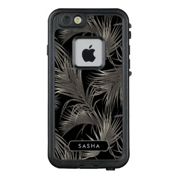 Beach Themed Lush Tropical Palm Pattern with Monogram LifeProof® FRĒ® iPhone 6/6s Case