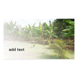 lush tropical vegetation business card