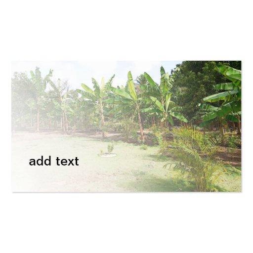 lush tropical vegetation business cards