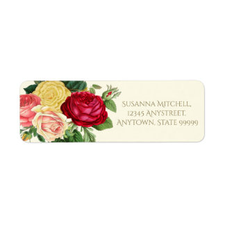 Lush Vintage Floral ID225 Label