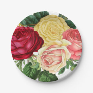 Lush Vintage Floral ID225 Paper Plate