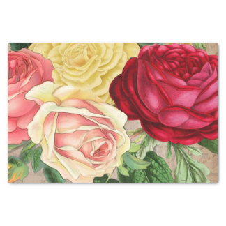 Lush Vintage Floral ID225 Tissue Paper