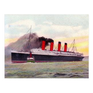 Lusitania 1907 postcard