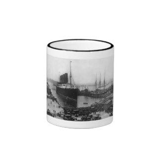 Lusitania Arrives Ringer Coffee Mug