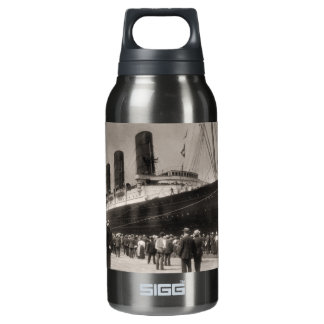 Lusitania Arrives New York City 1907 Insulated Water Bottle