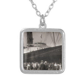 Lusitania Arrives New York City 1907 Necklace