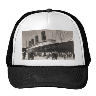 Lusitania Arrives New York City 1907 Trucker Hat