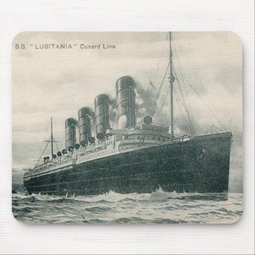 Lusitania de los SS del vapor Tapete De Ratones