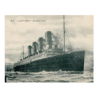 Lusitania de los SS del vapor Postales