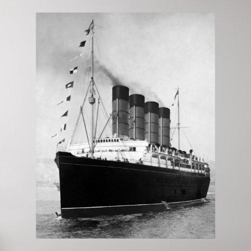 Lusitania del RMS Poster