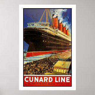 Lusitania Departing Poster