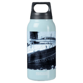 Lusitania Docked in New York City Blue Tone Insulated Water Bottle