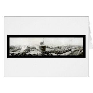 Lusitania End Voyage Photo 1907 Card