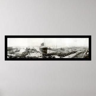 Lusitania End Voyage Photo 1907 Poster