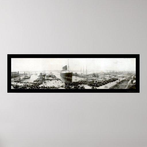 Lusitania End Voyage Photo 1907 Print