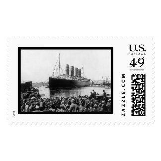 Lusitania Spectators 1907 Stamp