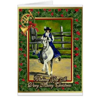 Lusitano Dressage Horse Blank Christmas Card