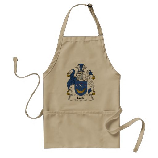 Lusk Family Crest Adult Apron
