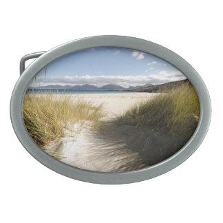 Luskentyre Beach Oval Belt Buckle