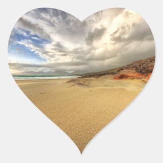 Luskentyre, Isle of Harris Heart Sticker