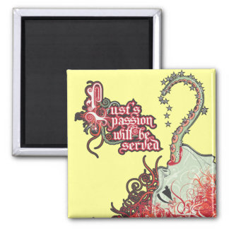 LUST 2 INCH SQUARE MAGNET