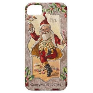 Lustiges tanzendes lustiges Vintages Weihnachten S iPhone SE/5/5s Case